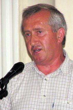 Rácz Ferenc a Fürdő Bizottság vezetője hangsúlyozta,  hogy a szegvári fürdő megépítéséért kitartóan fognak dolgozni (Fotó: Képessy Bence)