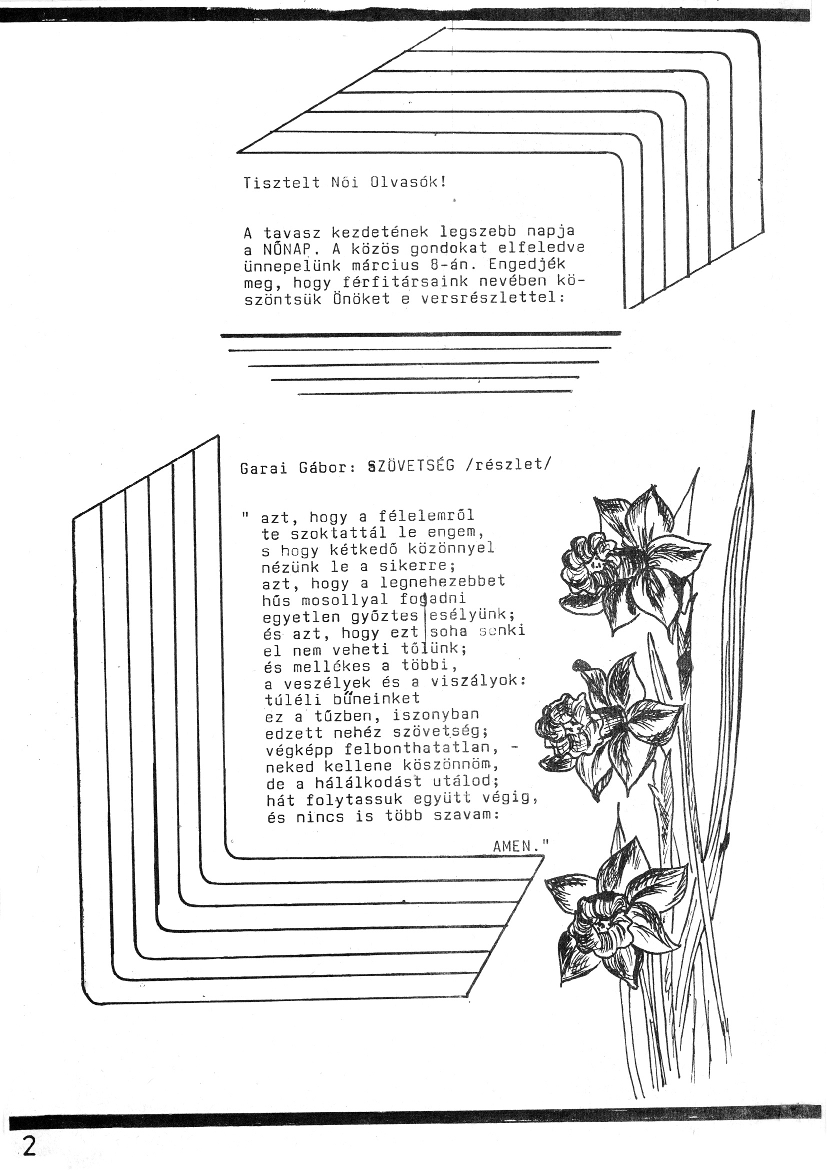 Szegvári Napló 001. lapszám – 1988. – 02. oldal – Digitalizá
